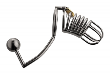 Condemned Penetration Cage with Anal Insertion Anal Toys, Chastity, Cock and Ball Torment, Chastity for Him, Metal Anal Toys, Urethral Inserts, Urethral Sounds, Metal Chastity Devices, Butt Plugs