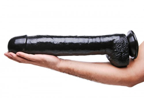 The Black Destroyer Huge Suction Cup Dildo Dildos, Huge Insertables, Huge Dildos, Suction Cup Dildos