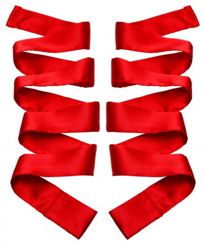 Scarlet Red Satin Sash Set Beginner Bondage