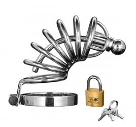 Asylum 6 Ring Locking Chastity Cage Chastity, Cock and Ball Torment, Metal Chastity Devices