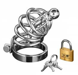 Asylum 4 Ring Locking Chastity Cage Chastity, Cock and Ball Torment, Metal Chastity Devices