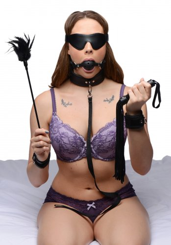 Tame Me 8 Piece Beginner Bondage Set Beginner Bondage, Bondage Gear, Impact, Floggers, Collars, Ankles and Wrist Restraints, Bondage Kits