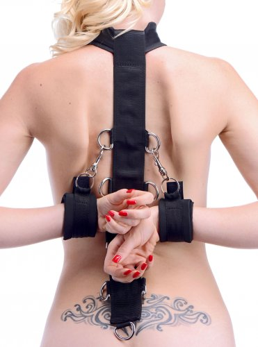 Neoprene Collar to Wrist Restraint Strap Beginner Bondage, Bondage Gear, Ankle and Wrist Restraints