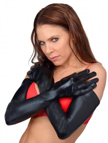 Dripping Wet Opera Length Gloves Clothing and Lingerie