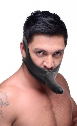 Face Fuk Strap On Mouth Gag Mouth Gags, Strap-Ons and Harnesses, Realistic Dildos, Thigh and Head Strap-On