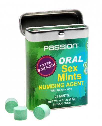 Oral Sex Mints with Extra Strong Numbing Agent Herbals, Numbing Supplements and Sprays