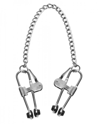 Intensity Nipple Press Clamps with Chain Nipple Toys, Nipple Clamps and Tweezers