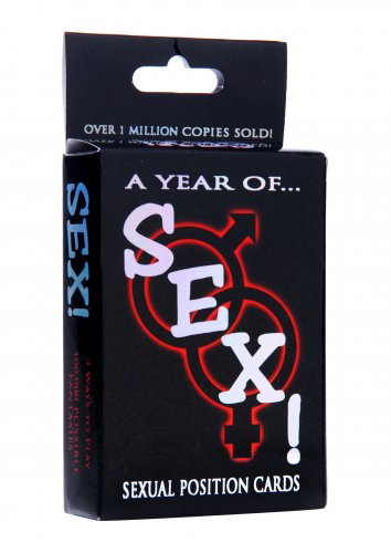 A Year of Sex! Sexual Position Card Game Games and Novelties, Sex Position Card Game