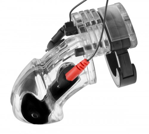 Electro Lockdown Estim Male Chastity Cage Chastity, Electrosex Gear, Chastity for Him, Non-Metal Chastity Devices