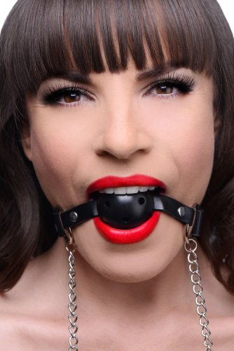 Breathable Ball Gag with Nipple Clamps Beginner Bondage, Mouth Gags, Nipple Toys
