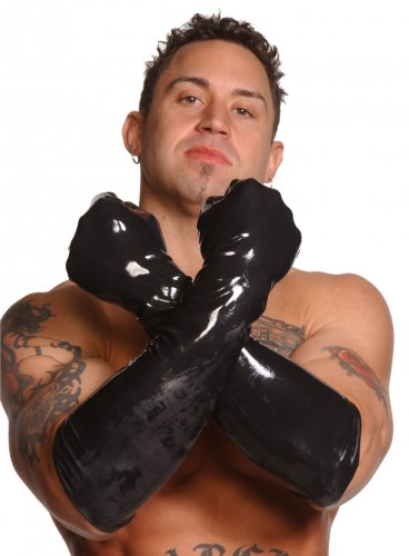 Mens Large Elbow-Length Gloves Bondage Gear, Clothing and Lingerie, Mens Clothing